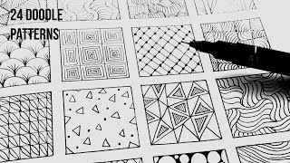 24 Easy Doodle Patterns Part 1 | Speed-Up ART