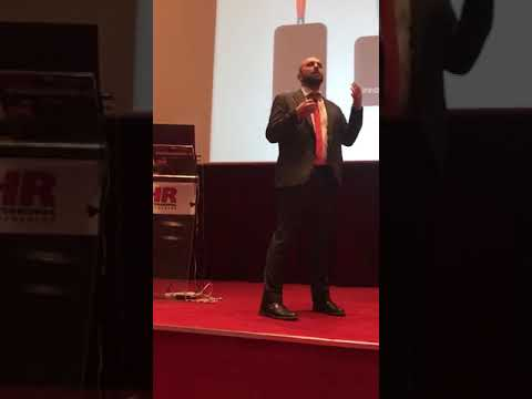 Dimitris Vasalakis on stage, at the Talent Management Conference - Athens, March 2018