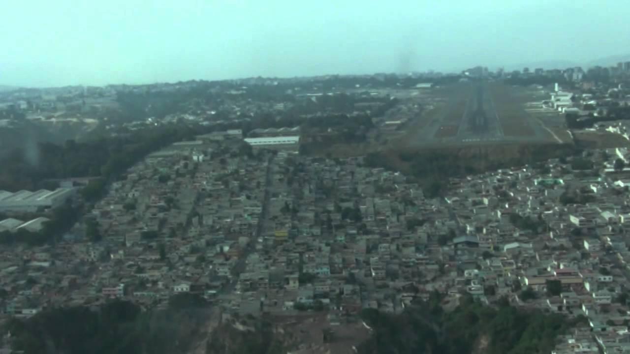 Landing At Guatemala La Aurora Airport Youtube