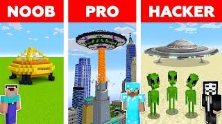 Minecraft NOOB vs PRO vs HACKER : ALIEN BASE CHALLENGE in minecraft / Animation