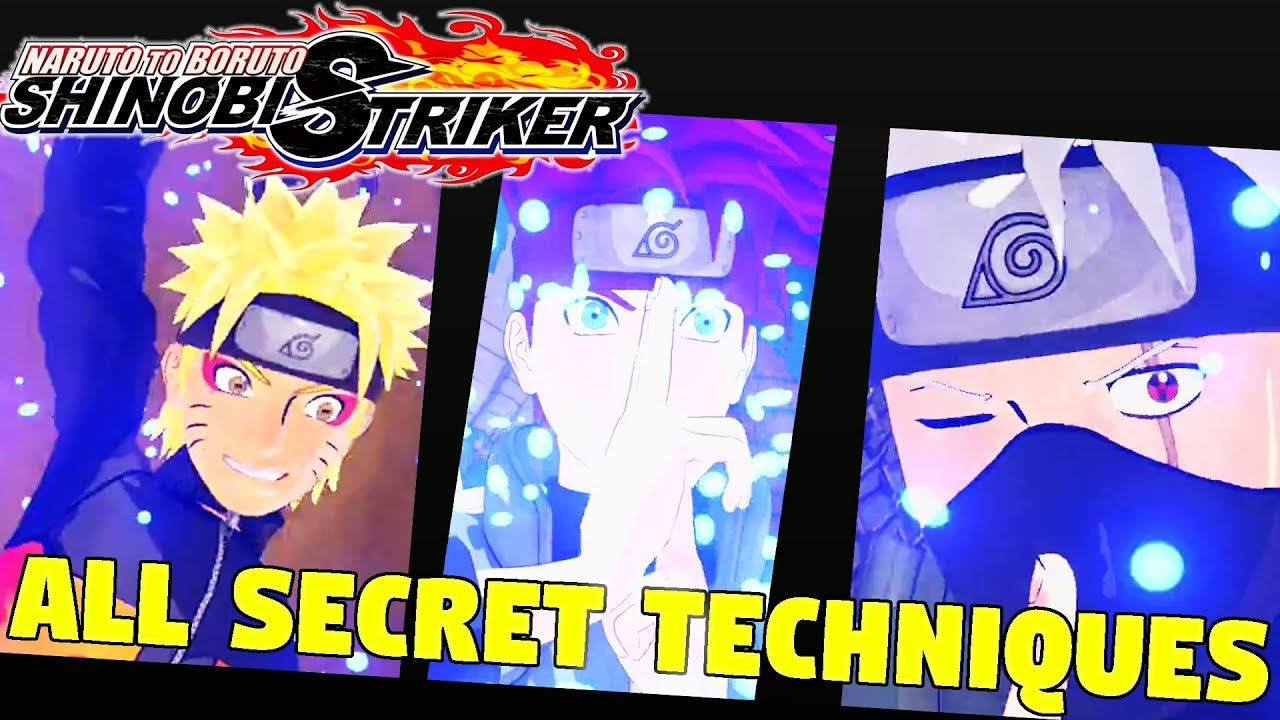 All Secret Techniques (All Ultimate Jutsus) Naruto to Boruto: Shinobi  Striker [PS4 Beta]