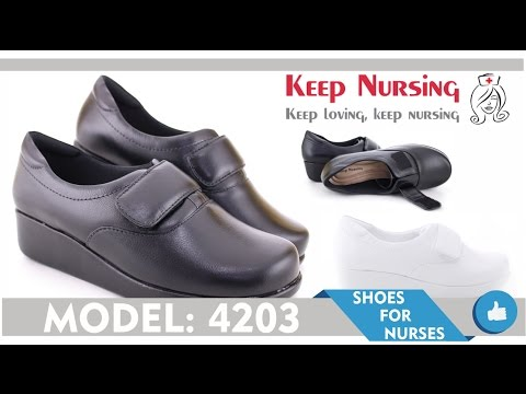 Leather Velcro Light Work Shoes 4203 - Nurses Shoes - KeepNursing.com