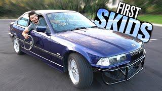 First Skids in my BMW E36 Drift Build!