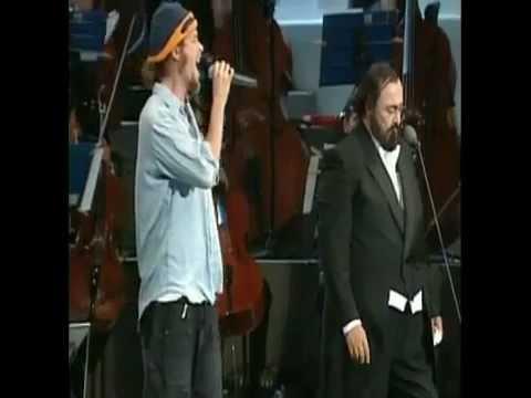 Pavarotti & Jovanotti: (H.Q - 4/3) ♫ Serenata Rap/Mattinata ♫ (LIVE - Modena 12 Settembre 1995)