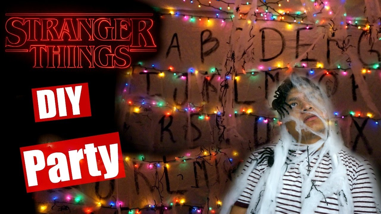 diy halloween party stranger things youtube - Stranger Things Christmas Decorations