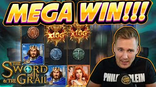 MEGA WIN!!! Sword and the Grail BIG WIN - Casino Games from Casinodaddy live stream