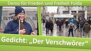 """Demo Frieden und Freiheit Fulda/ 30.01.21/ Gedicht: """"Der Verschwörer"""""""
