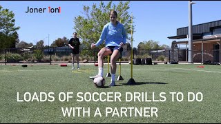 Loads of Football Training Drills to do with a PARTNER! | Joner 1on1 Football Training