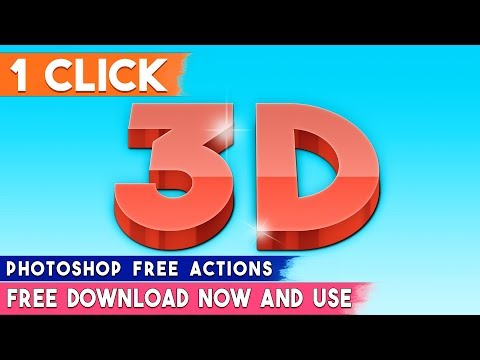 1 Click Make 3D Text Effect Or 3D Logo By Photoshop Actions  ⏬