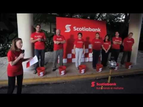 Scotiabank en República Dominicana acepta el reto #IceBucketChallenge
