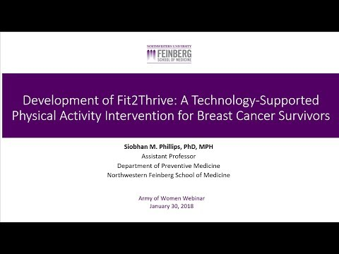 Army of Women Researcher Webinar Series: Dr. Siobhan Phillips and the OPT-ACT / Fit2Thrive Study