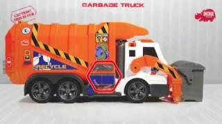 Dickie funkciós kukásautó játék narancssárga színben