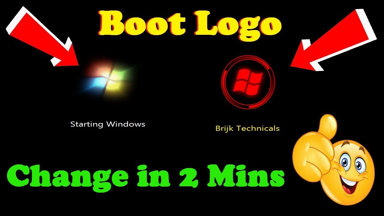 12 73 MB] How to Change Windows Default Boot animation, logo