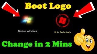 how to Change Windows Default Boot animation, logo and text in 2 minutes  Windows boot anim