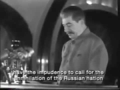 Stalin's speech about Hitler