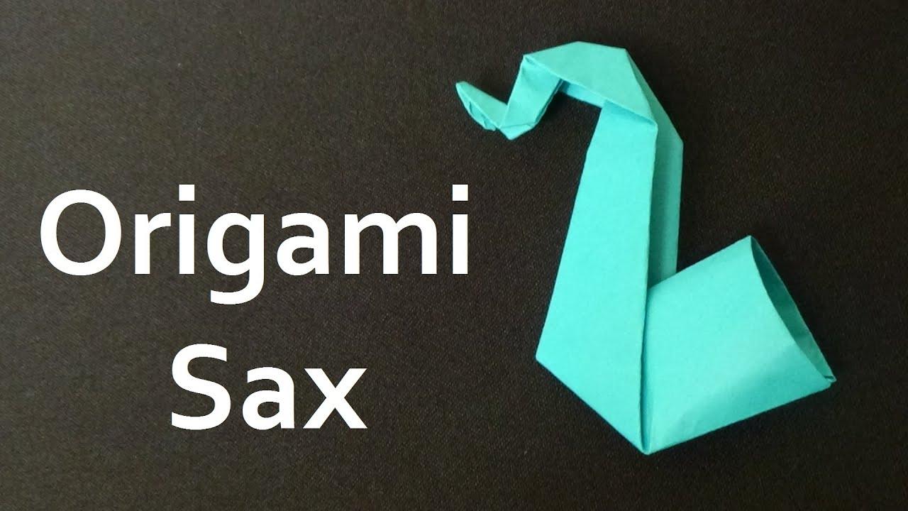 how to make origami sax youtube