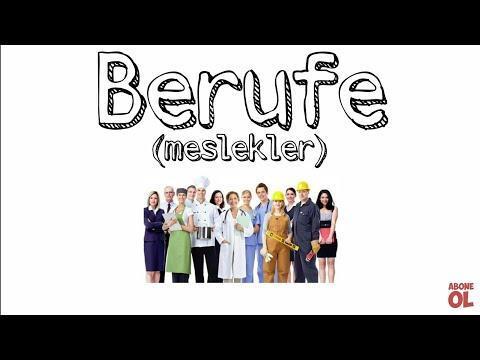Almanca meslekler videosu ( Berufe )