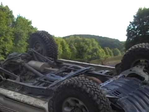 Pajero off-road crash