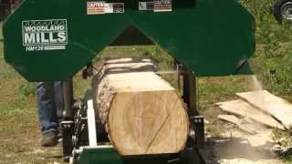 2013 Hm126 Portable Sawmill In Action