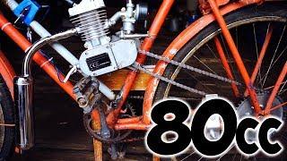 видео Установка двигателя на велосипед