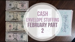 FEBRUARY PAYCHECK 2 | cash envelope stuffing