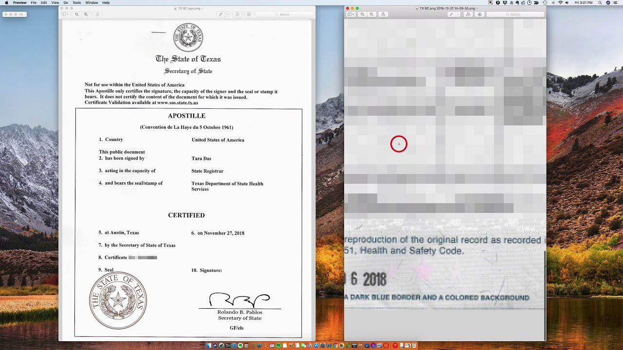 How To Apostille A Texas Birth Certificate Youtube