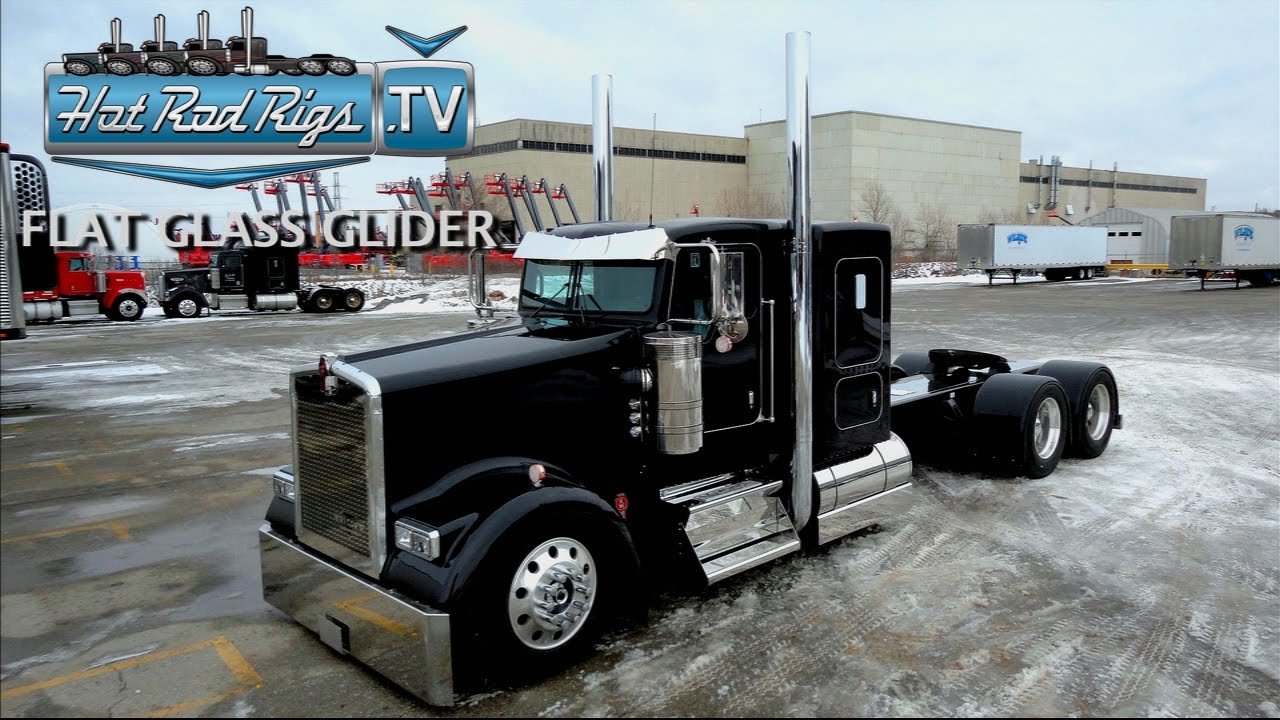 2018 Kenworth W900l >> FLAT GLASS KENWORTH W900 FULLY LOADED WITH C-15 POWER - BUILT BY THE BEST - HOT ROD RIGS TV ...