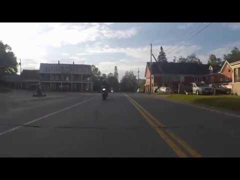 Ride on Kawasaki Ninja 250 around lake in Vermont