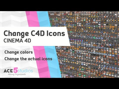C4D icons and their colors » Cinema 4D