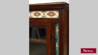 Antique Anglo-indian Style Hardwood Buffet Cabinet With