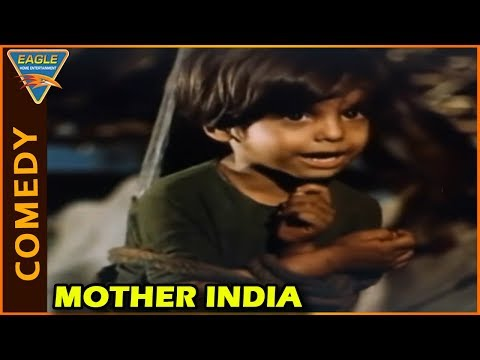Mother India Movie | Sajid Khan Super Comedy Scene | Sunil Dutt | Rajendra Kumar | Nargis Dutt