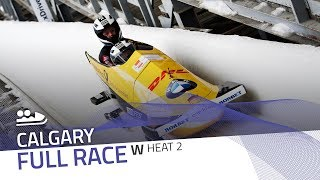 Calgary | BMW IBSF World Cup 2018/2019 - Women's Bobsleigh Heat 2 | IBSF Official