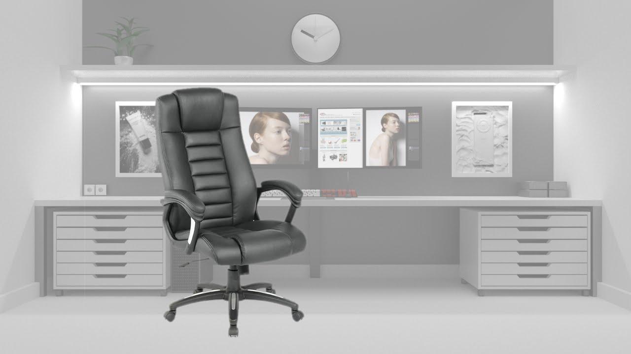 Ufficio Di Lusso : Tectake poltrona presidenziale da ufficio di lusso youtube