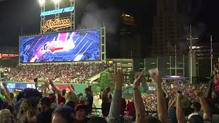 Fans erupt as Indians walk-off to win 22nd in a row