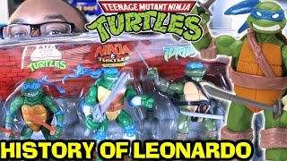 NINJA TURTLES History of Leonardo Toy Set Collection Review