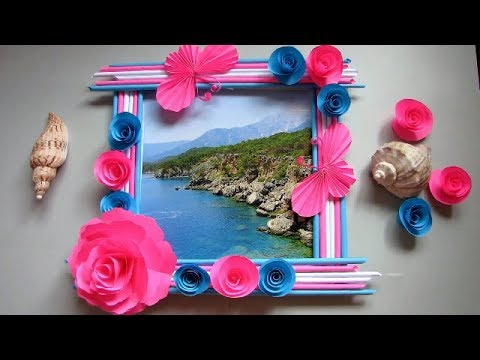 Make Photo Frame Out Of Newspaper Sticks Diy Newspaper Paper