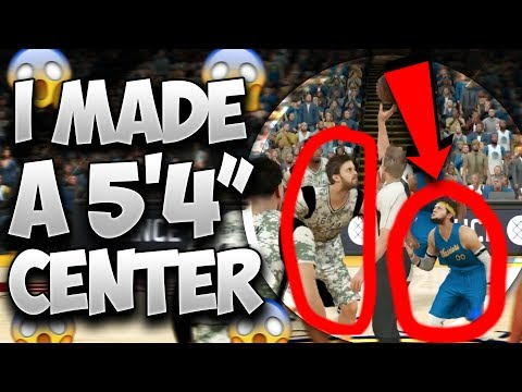 I MADE A 5'4 CENTER!! HE CAN DUNK OVER EVERYBODY!? - NBA 2K17 | PeterMc