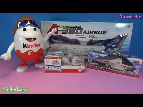 Kinder eggs planes  Airbus A-330 Lufthansa Aisan Airlines Turkish Airlines Helicopter Airbus A380