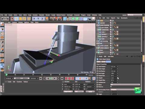 Cinema 4d modeling machine gun turret p9 youtube for Cinema 4d raumgestaltung
