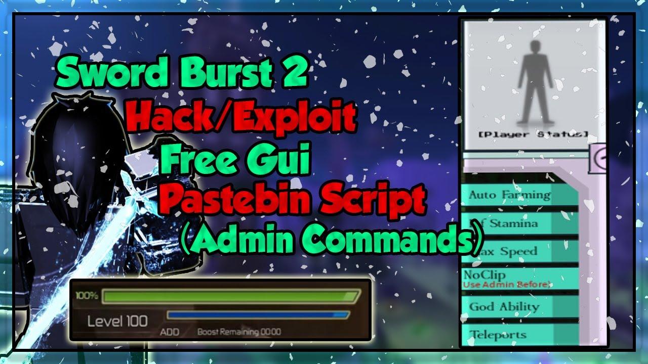 Roblox Pastebin Hacks Roblox Swordburst 2 Hack Exploit I Free Script Admin Autofarm God Mode Inf Stamina Etc Pastebin Youtube