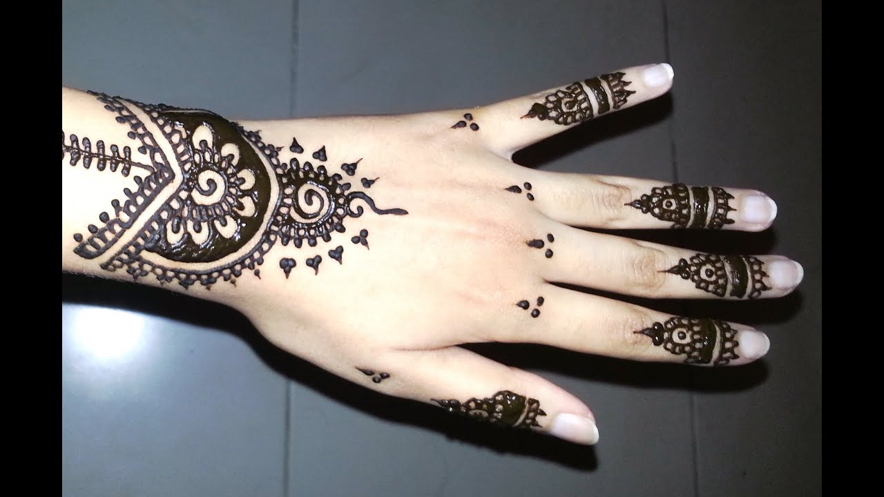 Simple Arabic Henna Easy Stylish Mehndi Tattoo Design For