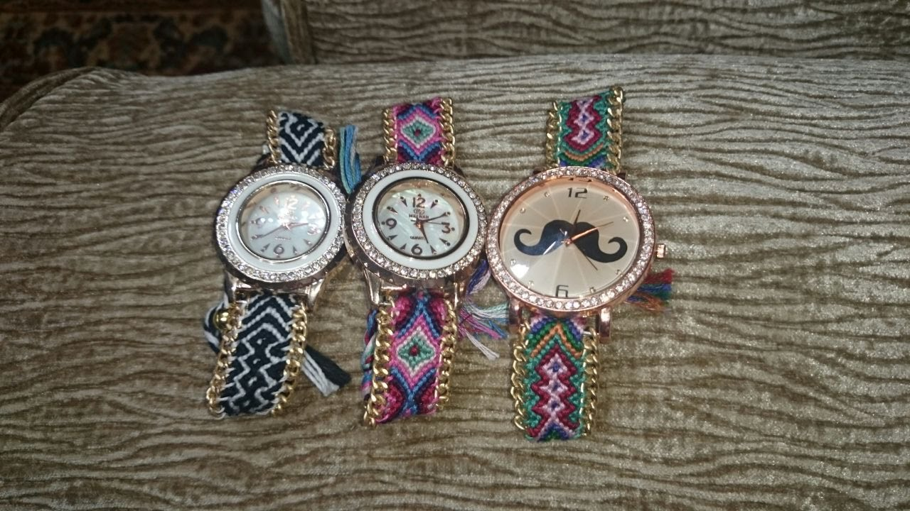 How to DIY Friendship Bracelet Watch - Tutorial . - YouTube