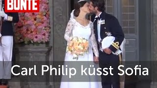 Prinz Carl Philip küsst Prinzessin Sofia - BUNTE TV