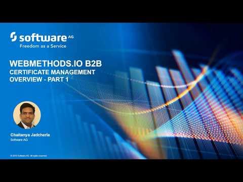 webMethods DevBytes: Certificate Management with webMethods.io B2B pt.1