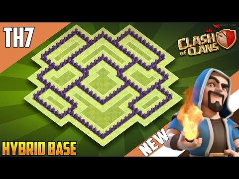 New Best  TH7 HYBRID/TROPHY[defense] Base 2018!! COC Town Hall 7 Hybrid Base Design - Clash Of Clans