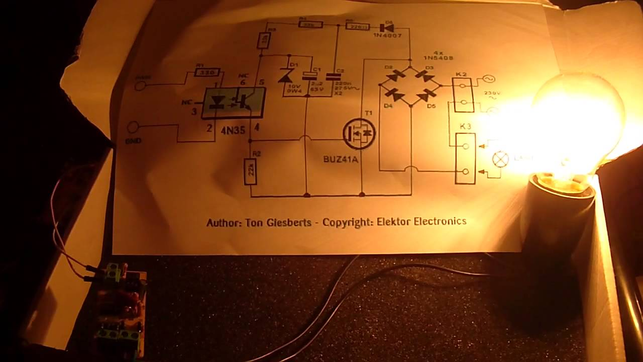 Ac Light Dimmer With A Mosfet Youtube Led Driver Circuit Schematic Http Www Learningelectronics Net Circuits