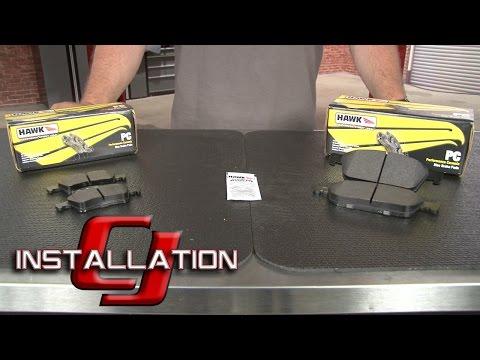 Focus ST Hawk Performance Brake Pad Ceramic Rear/Front Set 2013-2018 Installation