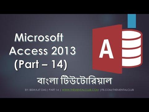 14. Microsoft Access 2013   Bangla Tutorial   Input Mask, Form Design and Database Encryption