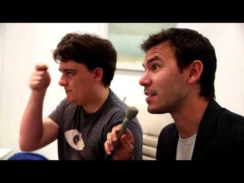 Oculus Rift interview uncut - Palmer Luckey & Nate Mitchell