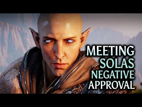 Dragon Age: Inquisition - Trespasser DLC - Meeting Solas Negative Approval